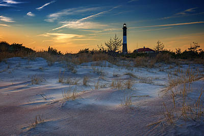 Sunset On Fire Island Poster by Rick Berk