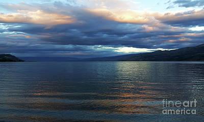 Sunset On Okanagan Lake Poster by Barbara McMahon