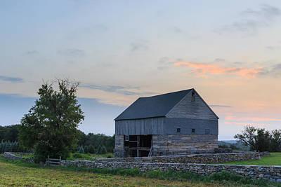 Sunset On The Farm Poster by Bryan Bzdula
