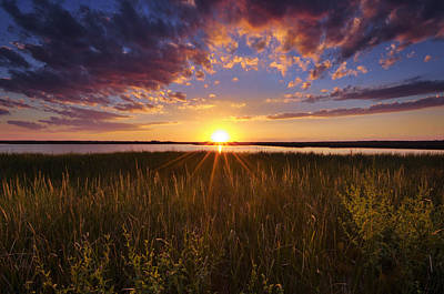 Sunset On The Marsh Poster by Joseph Rossbach