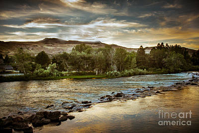 Sunset Over The Payette River Poster by Robert Bales
