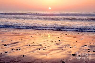 Sunset Over Torrey Pines Beach La Jolla California Poster by Julia Hiebaum