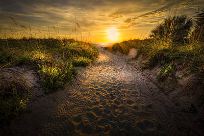 Sunset Path Poster by Marvin Spates