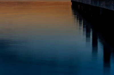 Sunset Pier Abstract Poster by Terry DeLuco