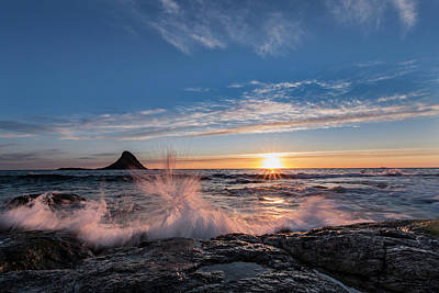 Sunset Splash II Poster by Frank Olsen
