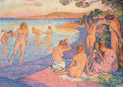 Sunset Poster by Theo Van Rysselberghe
