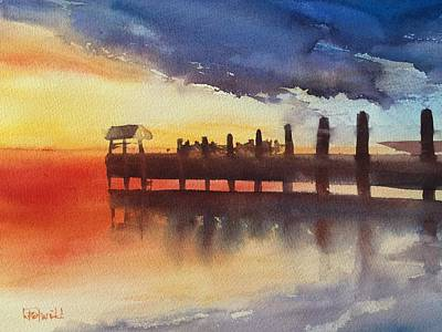 Sunset Watch Poster by Lynne Bolwell