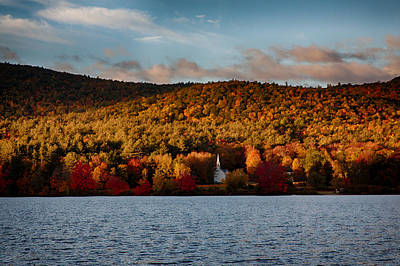 Sunshine On The Hills Of Fall Foliage Poster by Jeff Folger