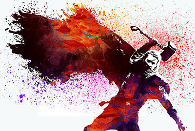 Superhero.thor. Poster by Elena Kosvincheva