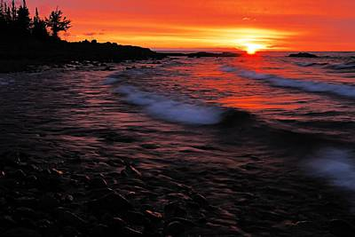 Superior Sunrise 2 Poster by Larry Ricker