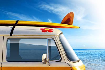 Surf Van Poster by Carlos Caetano