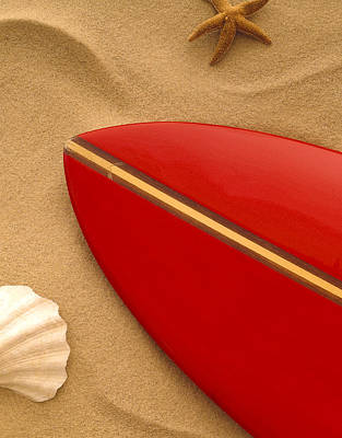 Surfboard 60's Poster by Gerry Wilson