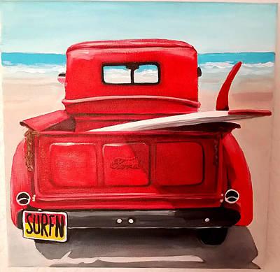 Surfn Poster by Debbie Brown