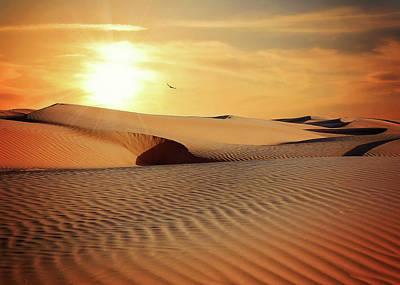 Sunset Art - Surreal Desert Sunset Poster by Wall Art Prints