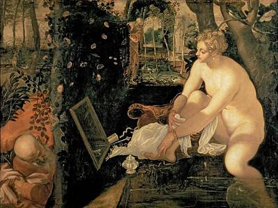 Susanna Bathing Poster by Jacopo Robusti Tintoretto
