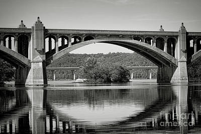 Susquehanna River Bridges  Poster by Olivier Le Queinec