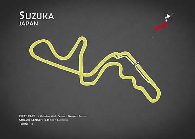 Suzuka Poster by Mark Rogan