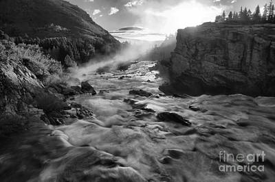 Swiftcurrent Black And White Sunrise Poster by Adam Jewell
