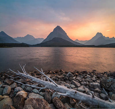 Sunset // Swift Current Lake, Glacier National Park  Poster by Nicholas Parker