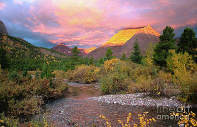 Swiftcurrent Sunrise Poster by Dave Hampton Photography