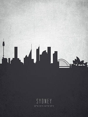 Sydney Australia Cityscape 19 Poster by Aged Pixel