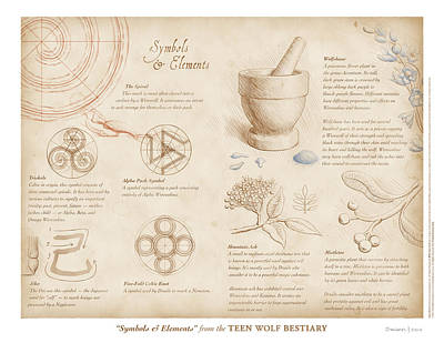 Symbols And Elements Poster by Swann Smith