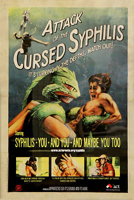 Syphilis Poster Poster by Andrew Fare