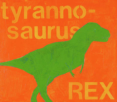 T Rex Poster by Laurie Breen