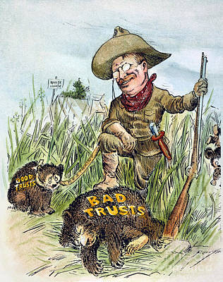 T. Roosevelt Cartoon, 1909 Poster by Granger