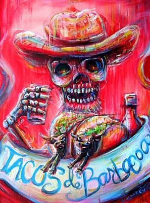 Tacos De Barbacoa Poster by Heather Calderon