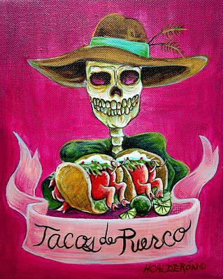 Tacos De Puerco Poster by Heather Calderon