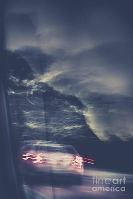 Tailing Car Trails Poster by Jorgo Photography - Wall Art Gallery
