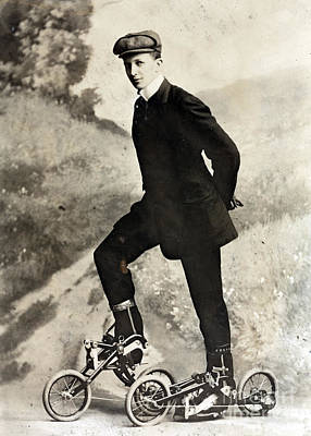 Takypod, Pedaled Roller Skates, 1910 Poster by Science Source