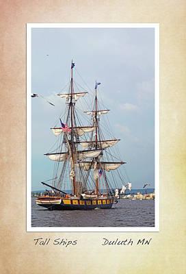 Tall Ships V1 Poster by Heidi Hermes