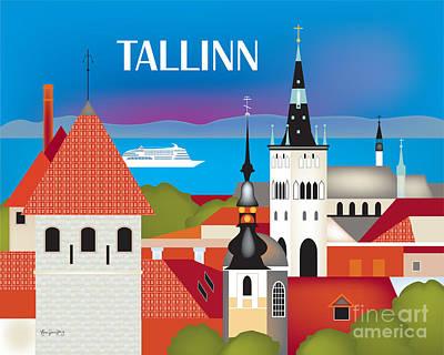 Tallinn, Estonia Horizontal Wall Art By Loose Petals Poster by Karen Young