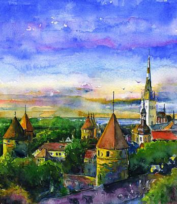 Tallinn Estonia Poster by John D Benson