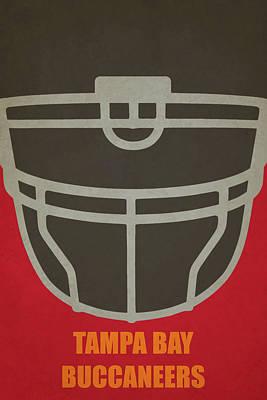 Tampa Bay Buccaneers Helmet Art Poster by Joe Hamilton