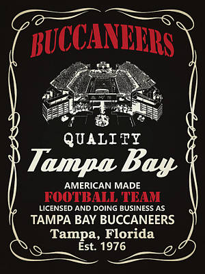 Tampa Bay Buccaneers Whiskey Poster by Joe Hamilton