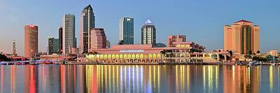 Tampa Panoramic View Poster by Frozen in Time Fine Art Photography