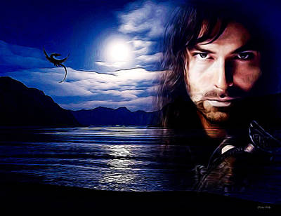 Kili And The Lonely Mountain Poster by Kathy Kelly