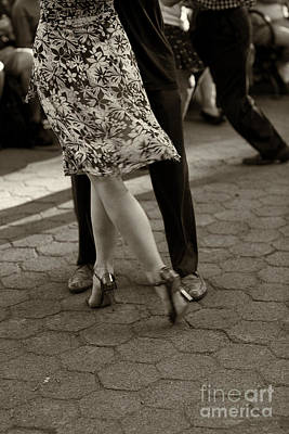 Tango In The Park Poster by Leslie Leda