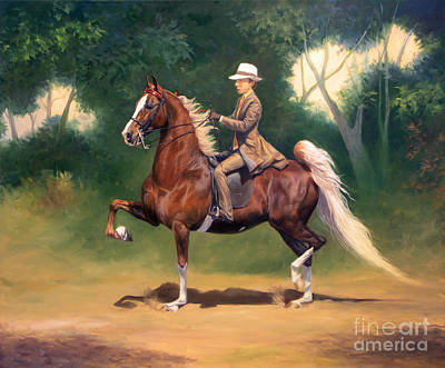 Tanner And Lady Poster by Jeanne Newton Schoborg