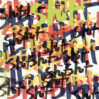 Tantrum- Art By Linda Woods Poster by Linda Woods