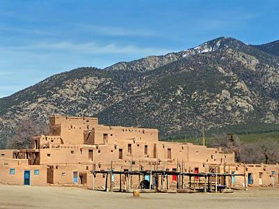 Taos Pueblo 20 Poster by Jeff Brunton