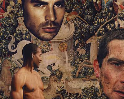 Tapestry Men Poster by John Vincent Palozzi