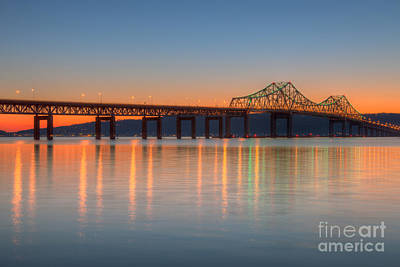 Tappan Zee Bridge After Sunset II Poster by Clarence Holmes