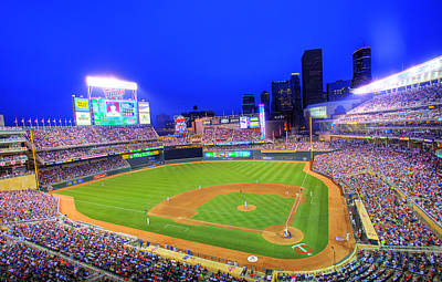 Target Field At Night Poster by Shawn Everhart