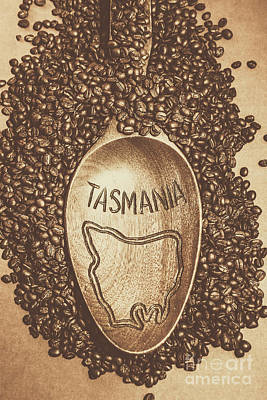 Tasmania Coffee Beans Poster by Jorgo Photography - Wall Art Gallery