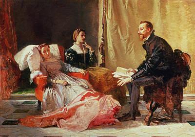 Tasso And Elenora Poster by Domenico Morelli