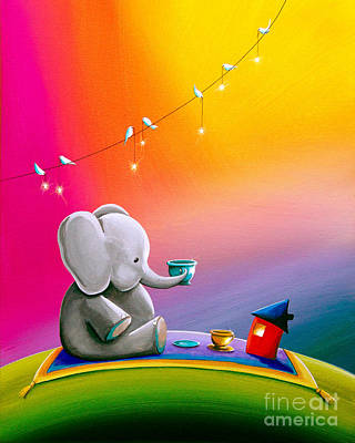 Tea Time Poster by Cindy Thornton